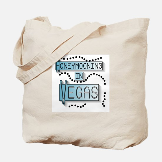 Blue Honeymoon Vegas Tote Bag
