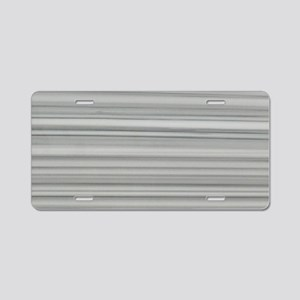 abstract grey marble lines Aluminum License Plate