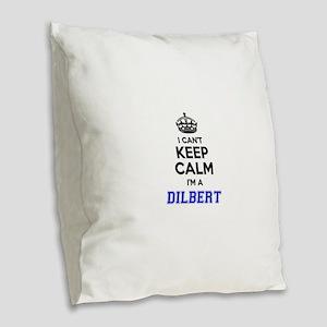 DILBERT I cant keeep calm Burlap Throw Pillow