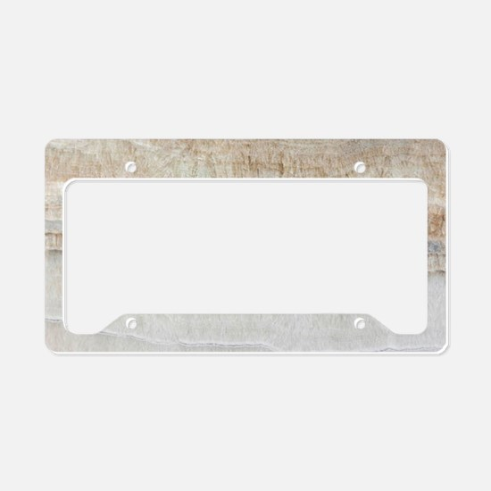 abstract chic white marble License Plate Holder