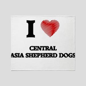 I love Central Asia Shepherd Dogs Throw Blanket