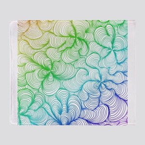 rainbow doodle Throw Blanket
