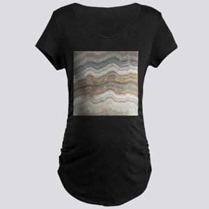 Chic neutral marble swirls Maternity T-Shirt