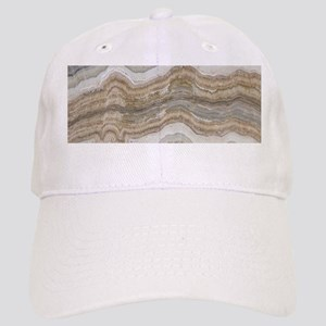 Chic neutral marble swirls Cap