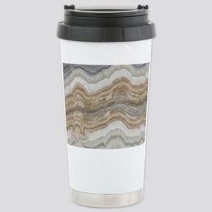 Chic neutral marble swi Stainless Steel Travel Mug