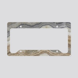 Chic neutral marble swirls License Plate Holder