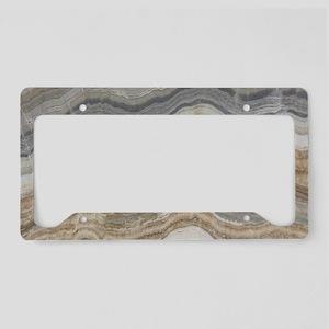 Chic neutral marble swirls License Plate Holder