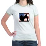 American Party Jr. Ringer T-Shirt