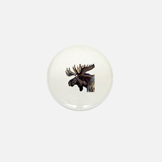 Unique Bull moose Mini Button