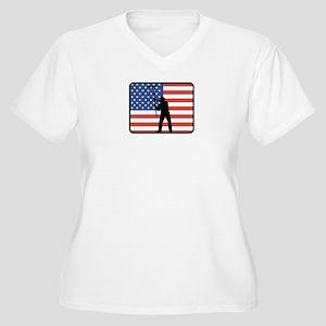 American Painter Women's Plus Size V-Neck T-Shirt