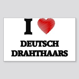I love Deutsch Drahthaars Sticker