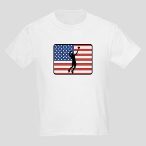 American Mens Volleyball Kids Light T-Shirt