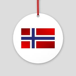 Simply Norwegian Round Ornament
