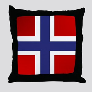Simply Norwegian Throw Pillow