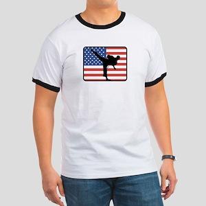 American Karate Ringer T