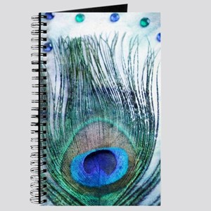 Rustic Peacock Feather Journal