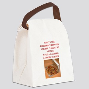 horse player Canvas Lunch Bag
