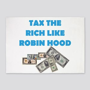 Tax the Rich 5'x7'Area Rug