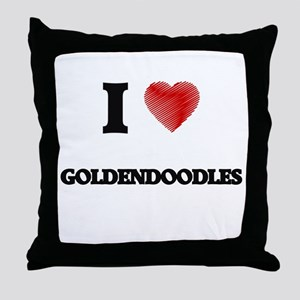 I love Goldendoodles Throw Pillow