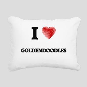 I love Goldendoodles Rectangular Canvas Pillow