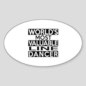 World's Most Valuable Line Dancer Sticker (Oval)