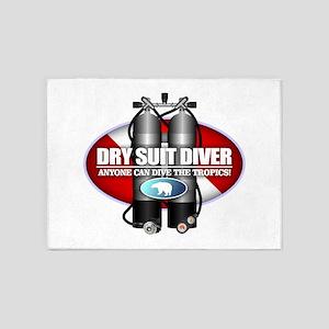 Dry Suit Diver (ST) 5'x7'Area Rug