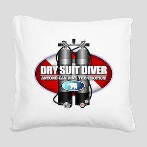 Dry Suit Diver (ST) Square Canvas Pillow
