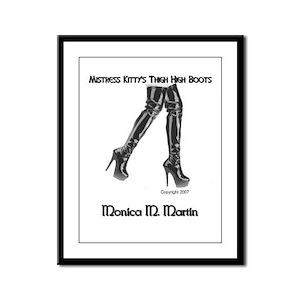 Mistress Kitty's High Boots Framed Panel Print