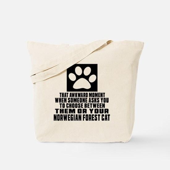 Awkward Norwegian Forest Cat Cat Designs Tote Bag