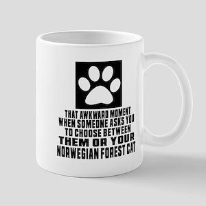 Awkward Norwegian Forest Cat Cat Design Mug