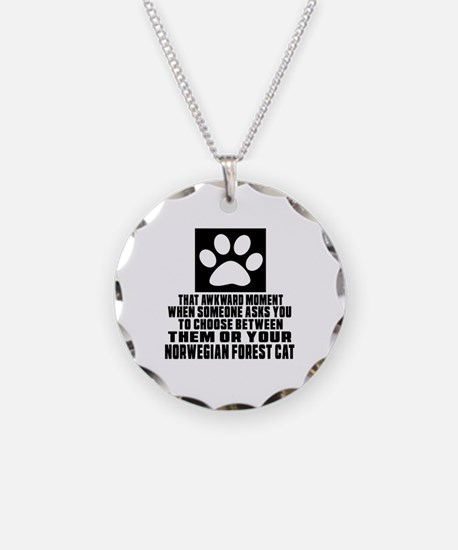 Awkward Norwegian Forest Cat Necklace
