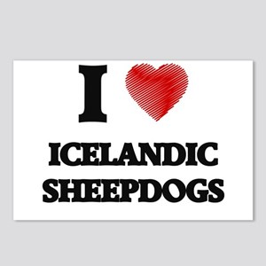 I love Icelandic Sheepdog Postcards (Package of 8)