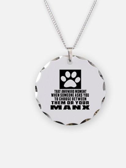Awkward Manx Cat Designs Necklace