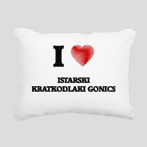 I love Istarski Kratkodl Rectangular Canvas Pillow