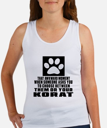 Awkward Korat Cat Designs Women's Tank Top