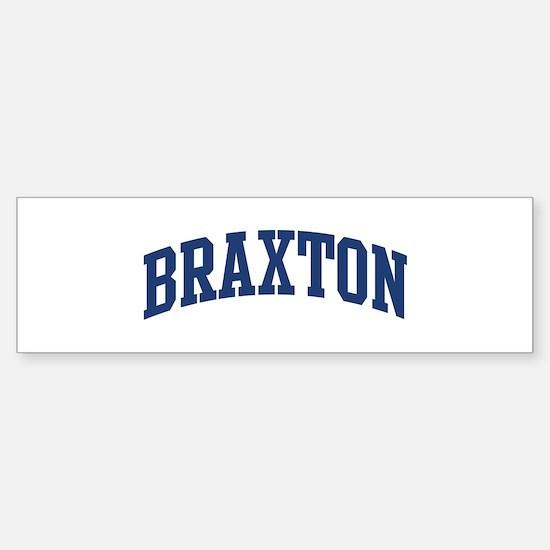 BRAXTON design (blue) Bumper Car Car Sticker
