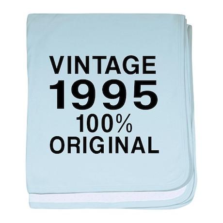 Vintage 1995 Birthday Designs baby blanket