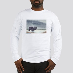 Snowdusted Bison Long Sleeve T-Shirt