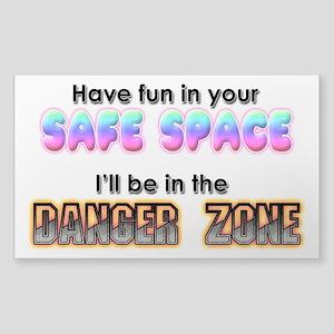 Safe Space Vs Danger Zone Sticker