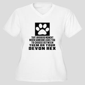 Awkward Devon Rex Women's Plus Size V-Neck T-Shirt