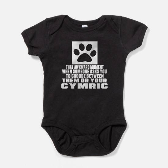 Awkward Cymric Cat Designs Baby Bodysuit