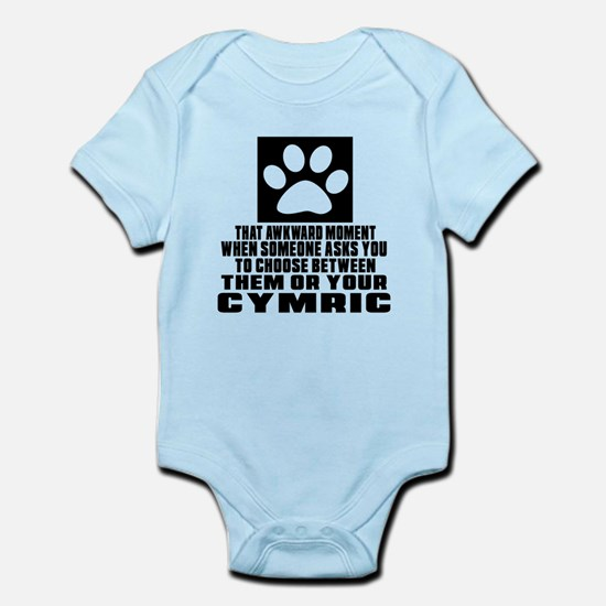 Awkward Cymric Cat Designs Infant Bodysuit