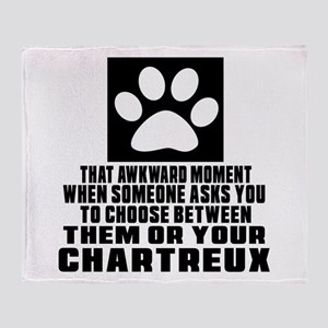 Awkward Chartreux Cat Designs Throw Blanket