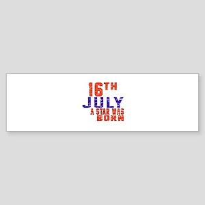 16 July A Star Was Born Sticker (Bumper)