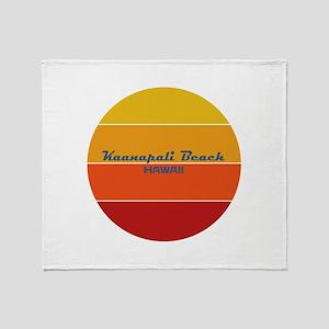 Hawaii - Kaanapali Beach Throw Blanket