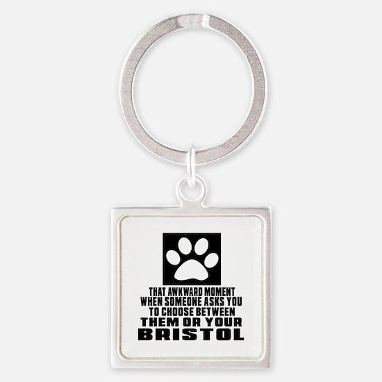 Awkward Bristol Cat Designs Square Keychain