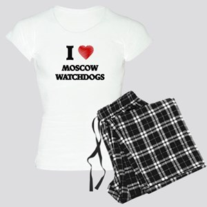 I love Moscow Watchdogs Women's Light Pajamas