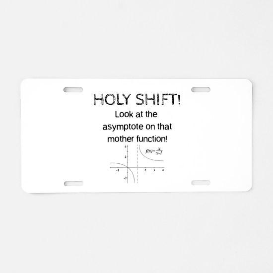 Holy Shift! Aluminum License Plate