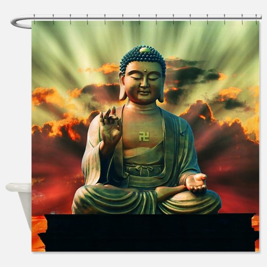 Buddha Sunrise Shower Curtain