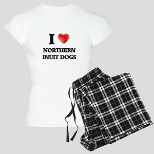 I love Northern Inuit Dogs Women's Light Pajamas